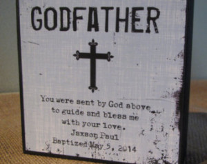 Personalized Godfather Gift God Fat her Gift Sign Gift Godparents