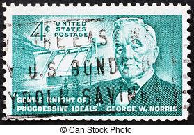 Postage stamp USA 1961 George William Norris US Senator pictures