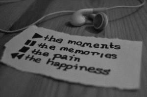 earphones, music, paper