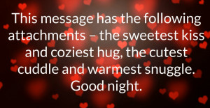 good night wish message love quote