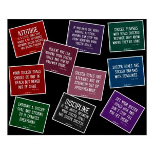 Soccer Quotes 10 Poster Collage in Colors on Black