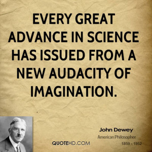 John Dewey Science Quotes