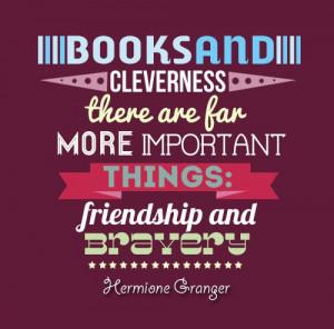 friendship, harry potter, harry potter quotes, hermione, hermione ...