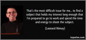 Leonard Nimoy Quotes