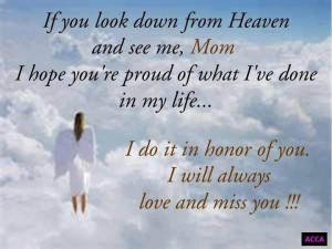 missing a mom in heaven
