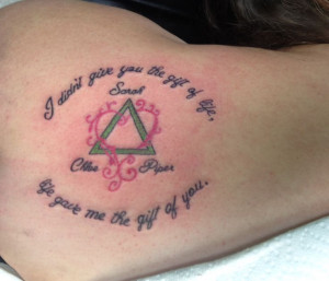 ... to. Do the triangle in blue and the heart hot pink. Adoption Tattoo
