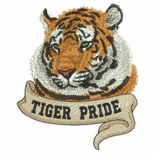 Tiger Pride embroidery design Spirit Wear