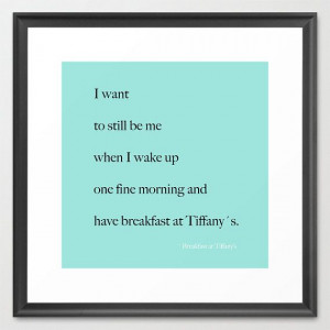 ... Breakfast at Tiffany's - Quotes - Typography - Home Decor - Wall Decor