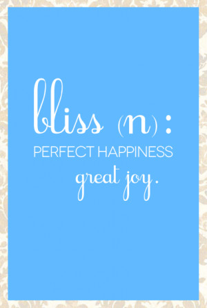 bliss quote