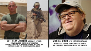 ... who was wounded in Afghanistan rips Michael Moore's sniper comments