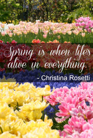 Here are some great inspirational Spring quotes.