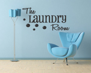 THE LAUNDRY ROOM - Vinyl Wall Quotes Lettering Decal Quote Removable ...