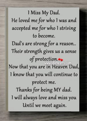 Miss My Dad in Heaven