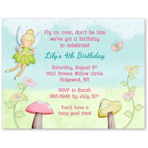 Tinker bell Inspired Fairy Invitations
