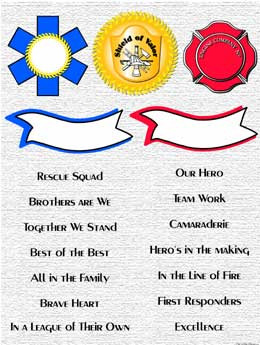 Fire Rescue / EMS Sayings / Clip Art