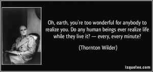 More Thornton Wilder Quotes