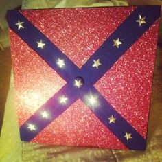 my graduation cap confederate flag and sparkles more graduation cap ...