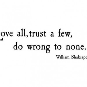 ... to none. Shakespeare. Vinyl Wall Decal Words Lettering Quote WW3019