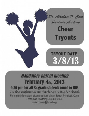 Cheerleading Tryout Flyer Template