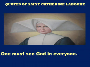 QUOTES OF SAINT CATHERINE LABOURE – 05-01-2013