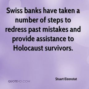 redress past mistakes and provide assistance to Holocaust survivors