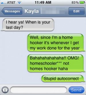 funny auto-correct texts - Last Day Of School