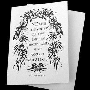 cards George Washington Quote hemp cannabis by emerlyearts, $12.00