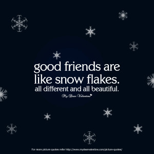 Funny Friendship Quotes - Good Friends are like snow flakes