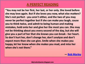 Perfect Reading, especially for a Valentine's Day