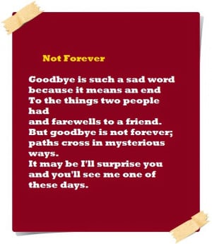 Short Sad Goodbye Poems