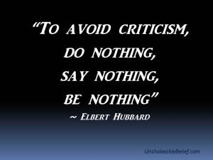 The Subtle Art of Criticism