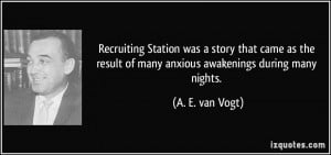 Recruiting Station was a story that came as the result of many anxious ...
