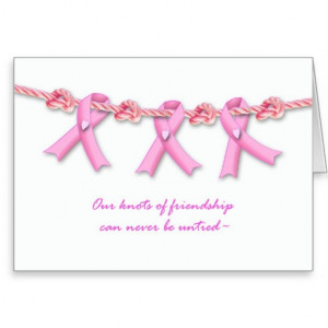 Encouragement for Breast Cancer Patient, Pink Greeting Card
