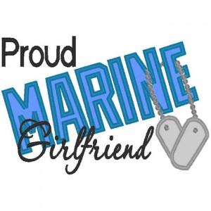 ... Designs > Just Say It! > Just Say it Proud > Proud Marine Girlfriend