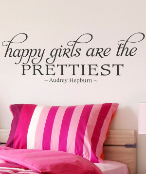 ... Maddie need this for her new room??? ;) Black 'Happy Girls' Wall Quote