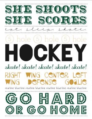 free printable: hockey subway art