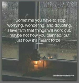Yes. What's meant to be will be