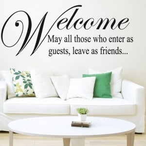 Home › Quotes › Welcome Friends Wall Sticker Quote