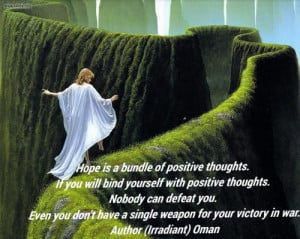 bundle of positive thoughts. If you will bind yourself with positive ...