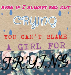 Cant Blame A Girl For Trying - lyrics ~ BY: Sabrina Carpenter
