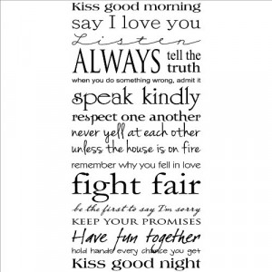 Kiss Me Good Morning...Kiss Me Good Night wall saying vinyl lettering ...