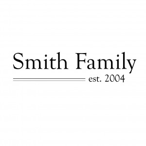 Family Name Established Quote – Vinyl Wall Art Decal for Homes ...