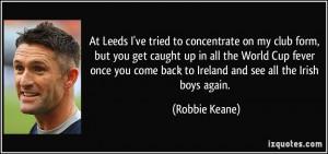 More Robbie Keane Quotes