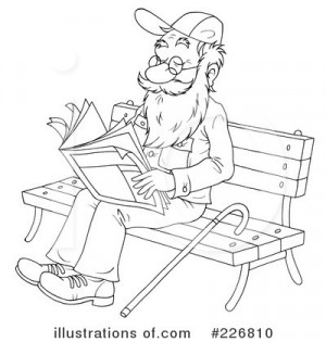 Senior Citizens Clipart Black And White Royalty-free (rf) senior man