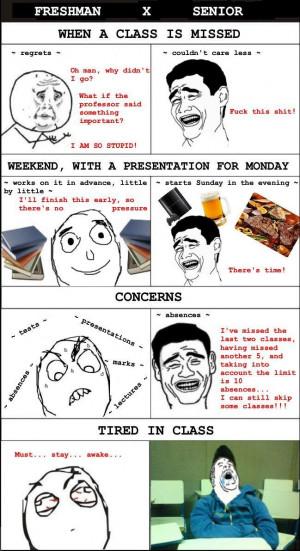 Freshman vs. Senior - College Life Time