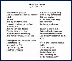 The Love Inside Song Lyrics