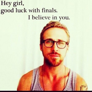 Good luck with finals everyone!