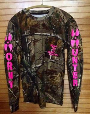 Realtree Ap LS Camo/neon pink :: T Shirts :: Horny Hunter Shirts
