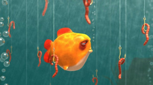 ... fish bubbles hook fishing worm 1920x1080 wallpaper Animals Fish HD
