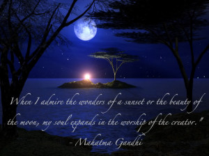... Admie the Wonders of a Sunset or the Beauty of the Moon - Beauty Quote